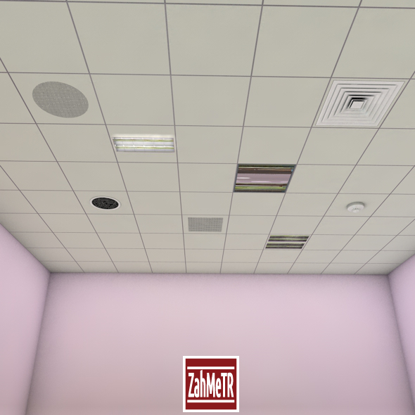 3DOcean Office Ceiling Panels 12218262