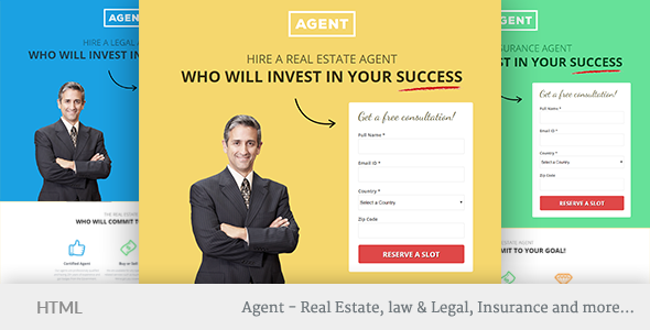 Image of Multipurpose Landing Page Template - Agents