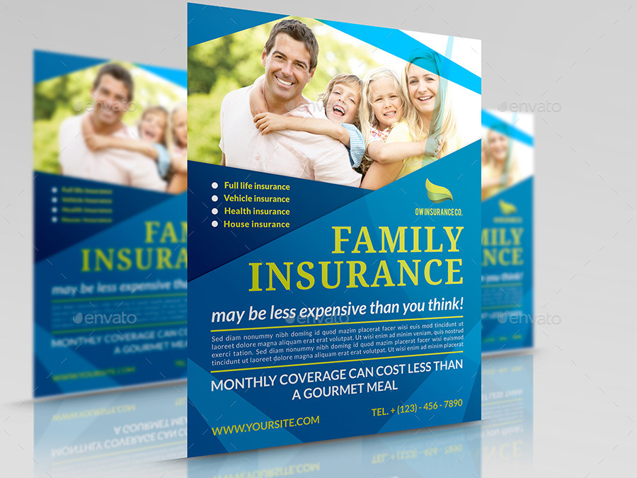 Insurance Flyer Template by OWPictures | GraphicRiver