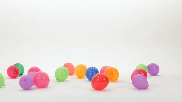 VideoHive Girl Kicks Balloons 12221139