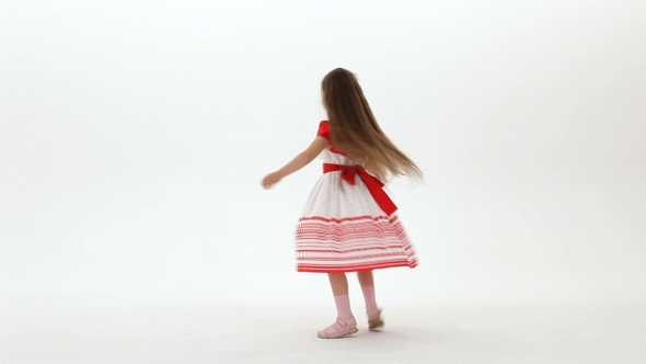 VideoHive Girl On A White Background 12221186