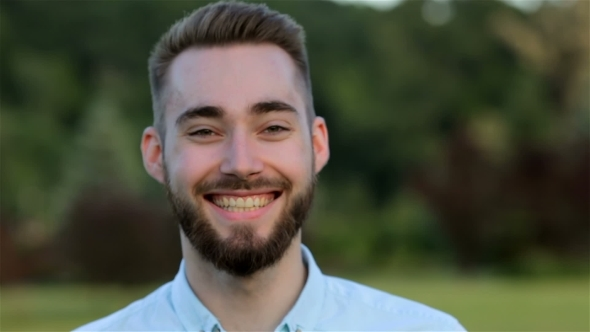 VideoHive Smiling Handsome Man In The Park 12221254