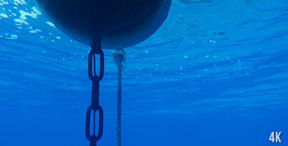 VideoHive Buoy Cable And Chain Under Water 12222087
