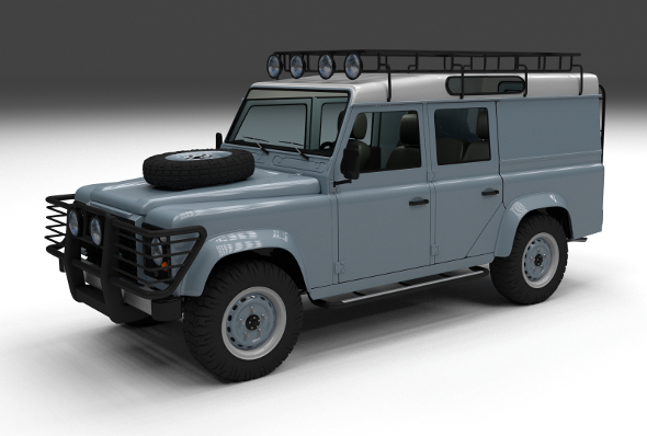 3DOcean Land Rover Defender 110 Utility Station Wagon w in 12222984