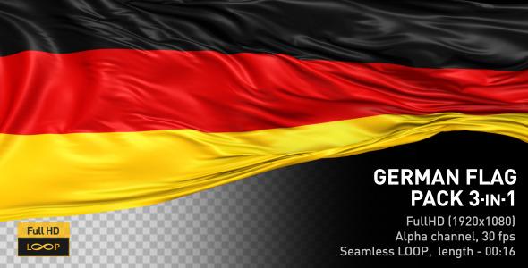 VideoHive German Flag Pack 12223478
