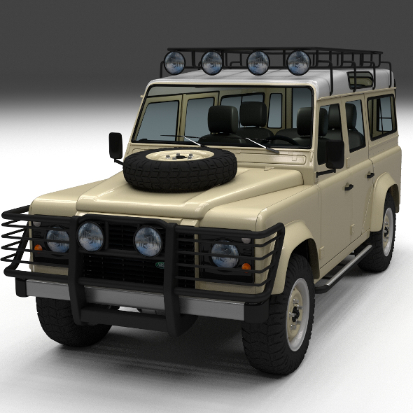 3DOcean Land Rover Defender 110 Station Wagon w interior 12223610