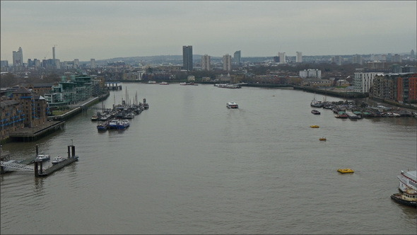 VideoHive Bird View of the Thames River 12224926