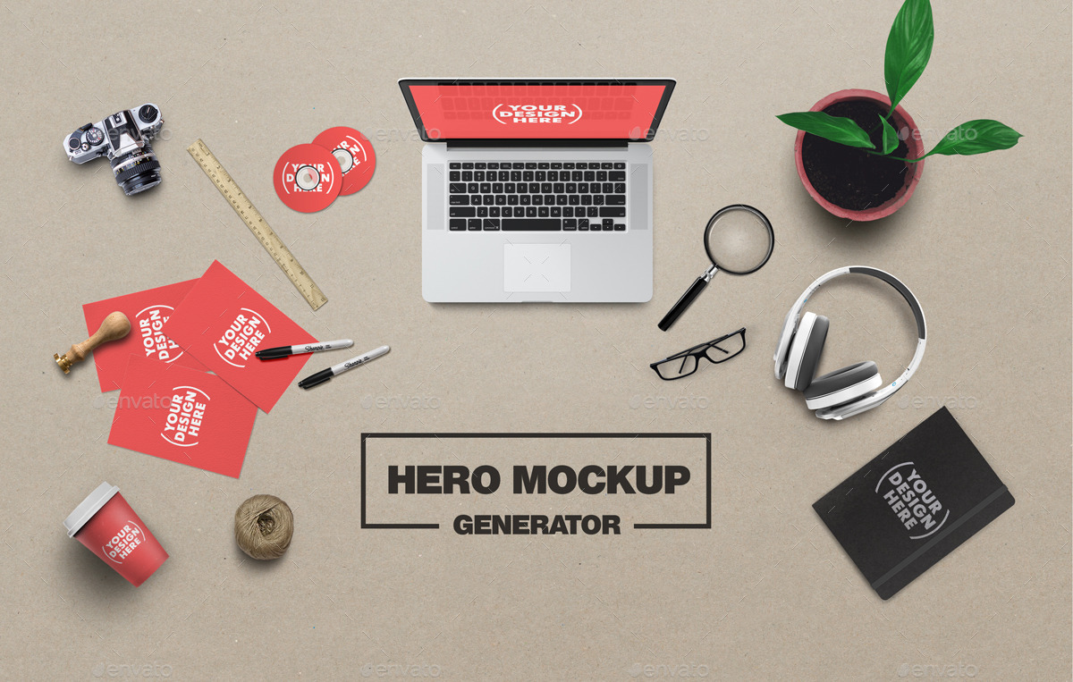 Artist hero mockup generator by grapulo graphicriver for Mockup generator t shirt