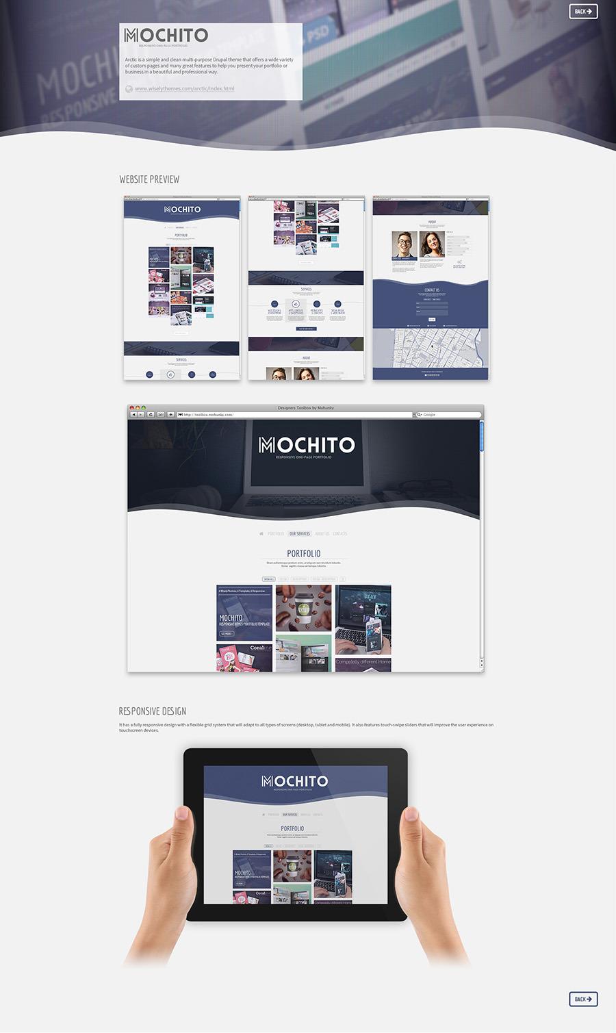 mochito responsive onepage portfolio template by wiselythemes mochito responsive onepage portfolio template