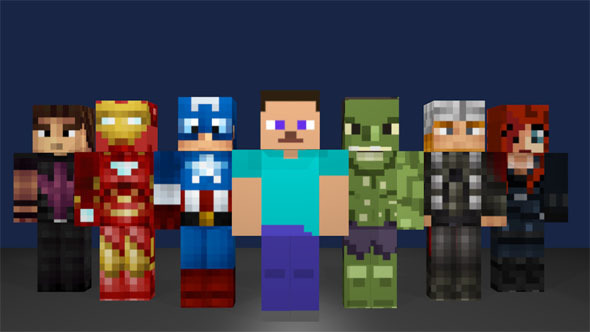 Minecraft Avengers Pack - 3DOcean Item for Sale