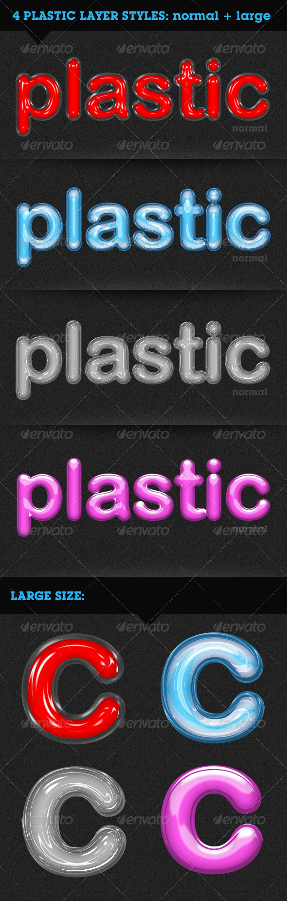 Plastic Text - Text Effects Styles