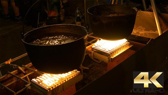 VideoHive Night Cauldron Food Cooking 12227819