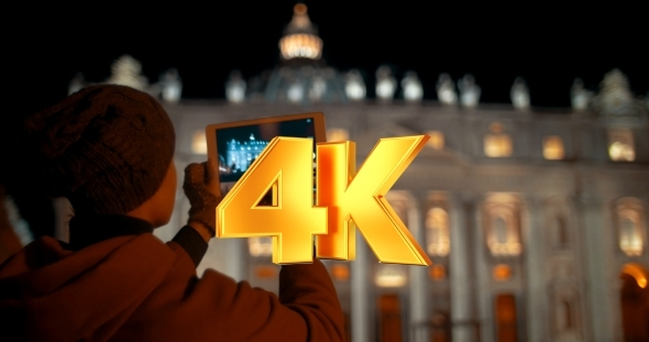 VideoHive Making Touch Pad Photos Of Night St Peters 12228203