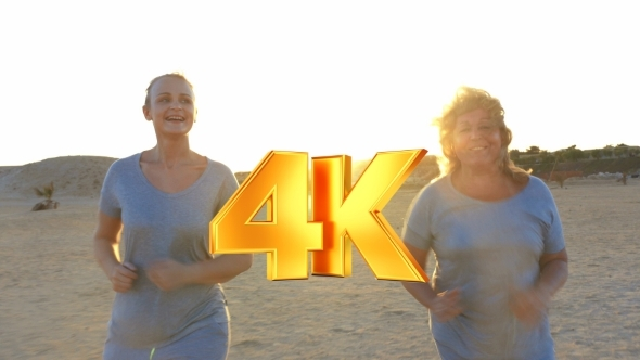 VideoHive Mother And Daughter Jogging 12228227
