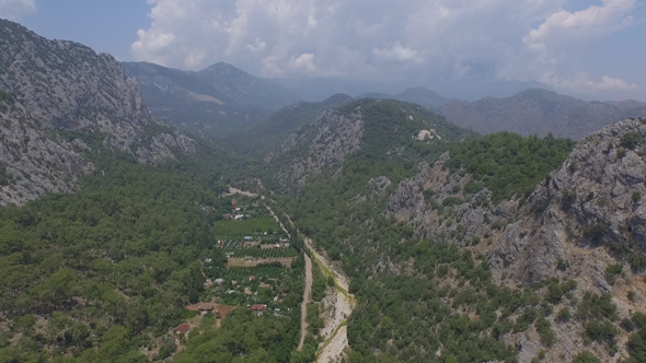 VideoHive Flying Above Valley Village 12228855