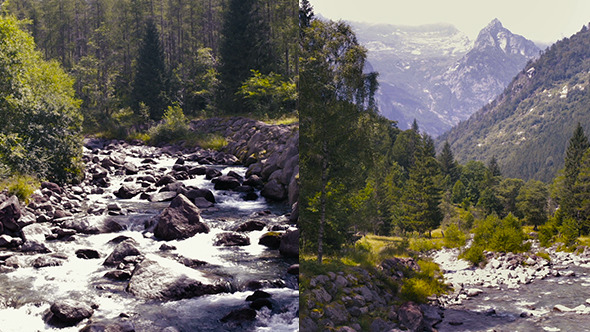 VideoHive Mountain River in a Wild Landscape 12229098
