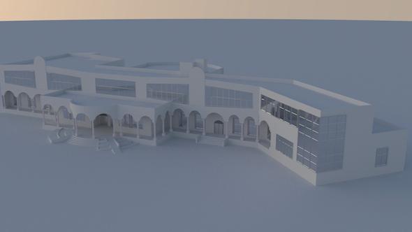 Cultural center  - 3DOcean Item for Sale
