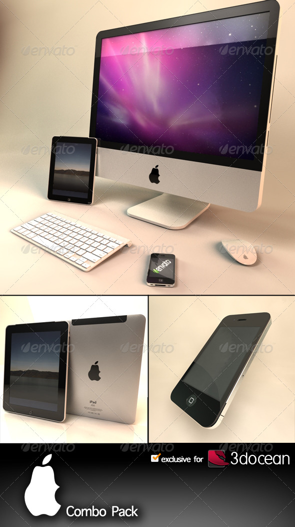 Apple Combo Pack - 3DOcean Item for Sale