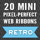 Mini Retro Web Ribbons - GraphicRiver Item for Sale