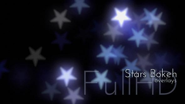 VideoHive Stars Bokeh Overlays 12233206
