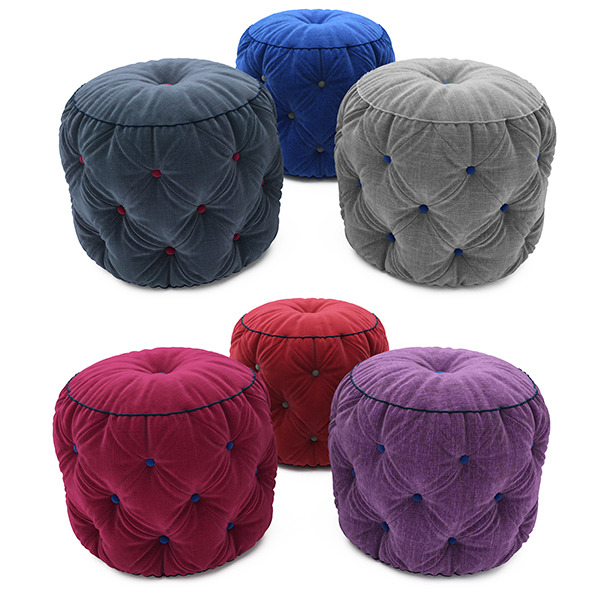 Pouf collection 02 - 3DOcean Item for Sale