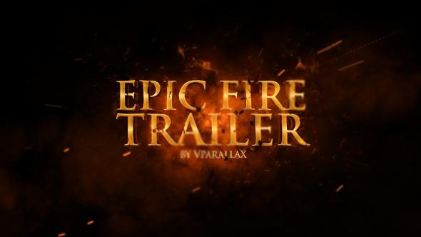 VideoHive Epic Fire Movie Trailer 12233939