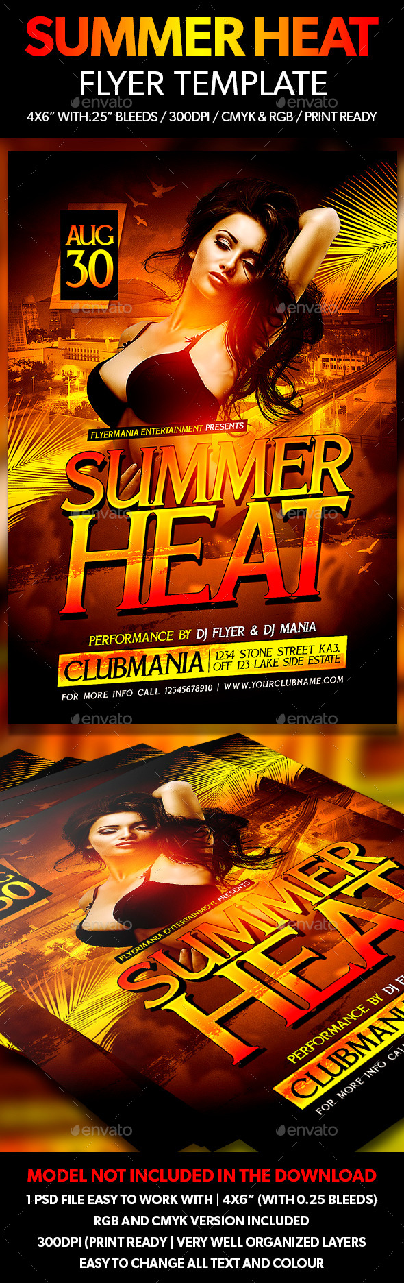 Summer Heat Flyer Template