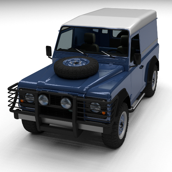 3DOcean Land Rover Defender 90 Hard Top w interior 12235074