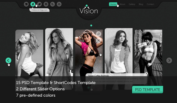 ThemeForest Vision Portfolio Photography Template 1224641