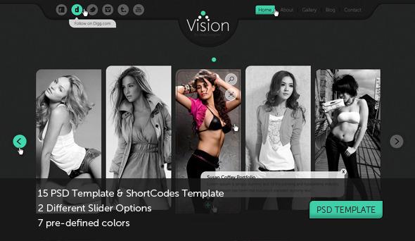 Vision Portfolio, Photography Template