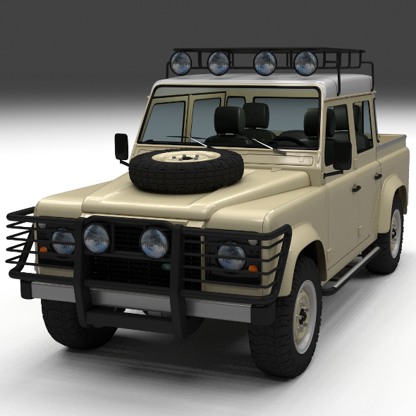 3DOcean Land Rover Defender 110 Double Cab Pick Up w inter 12235395