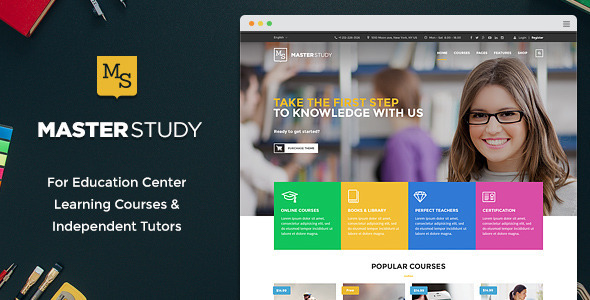 Masterstudy - Education Center WordPress Theme