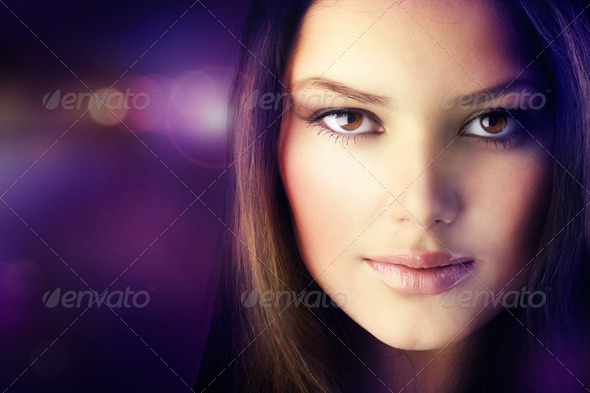 PhotoDune Beautiful Disco Girl Face Perfect Skin 1224781