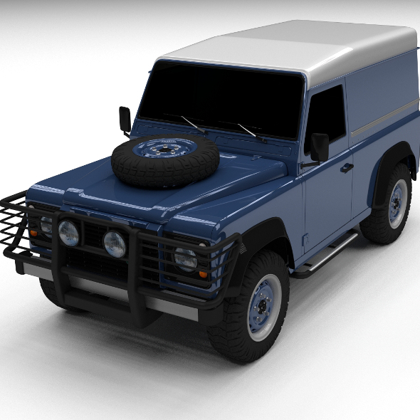 3DOcean Land Rover Defender 90 Hard Top 12236866