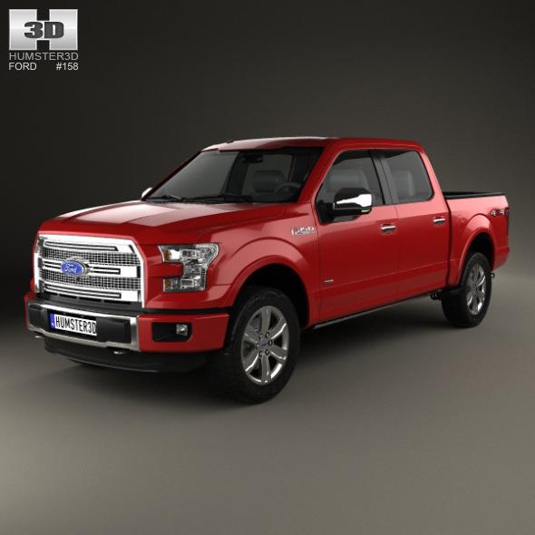 Ford F-150 Super Crew Cab Platinum 2014 - 3DOcean Item for Sale