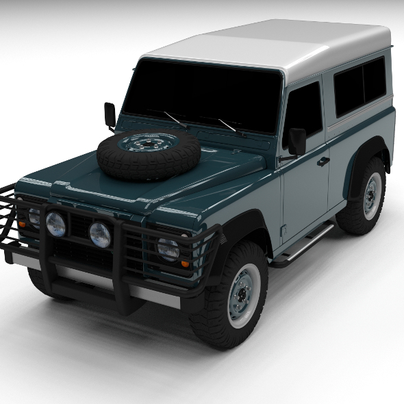 3DOcean Land Rover Defender 90 Station Wagon 12238070