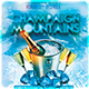 Champaign Mountains Party Flyer Template