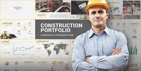 VideoHive Construction Portfolio Presentation 12238910