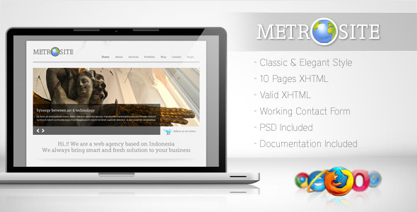 ThemeForest Metrosite Classic Business Template 147949