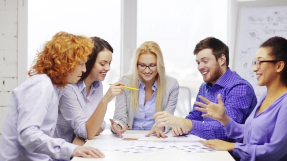 VideoHive Happy Creative Team Meeting At Office 12239189