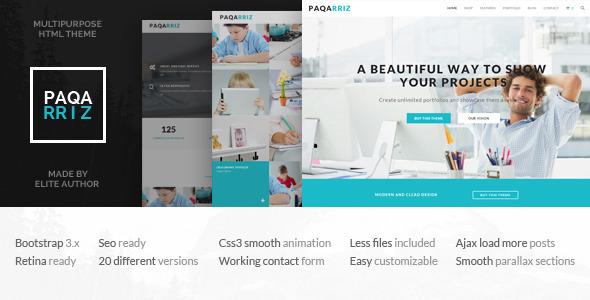 Paqarriz - Multipurpose HTML5 Template