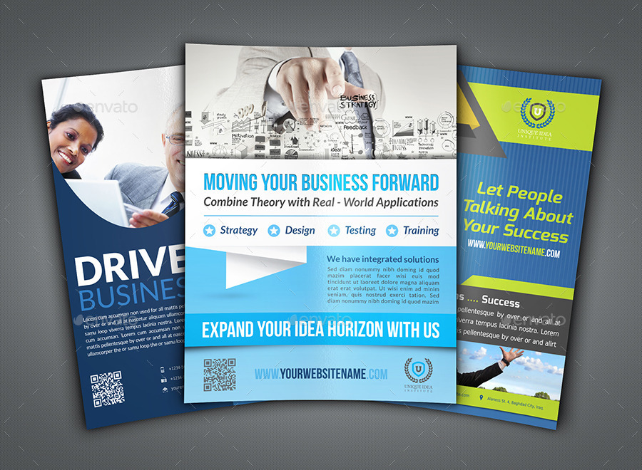 Corporate Flyer Bundle Template Vo4 by OWPictures – Corporate Flyer Template