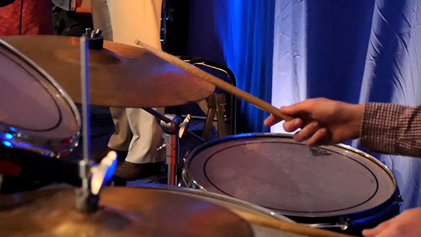 VideoHive Drummer Playing On Percussion In Rock Concert 12241300