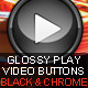 Glossy Play Video Buttons - GraphicRiver Item for Sale