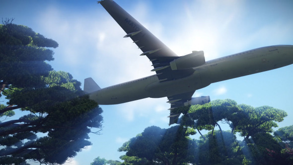VideoHive Airplane above Trees 12243463