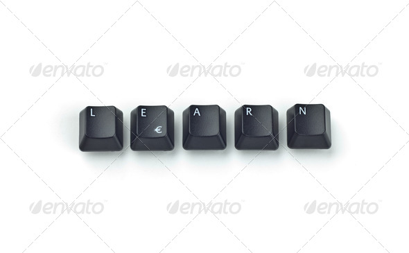 LEARN word with keys - Stock Photo - Images