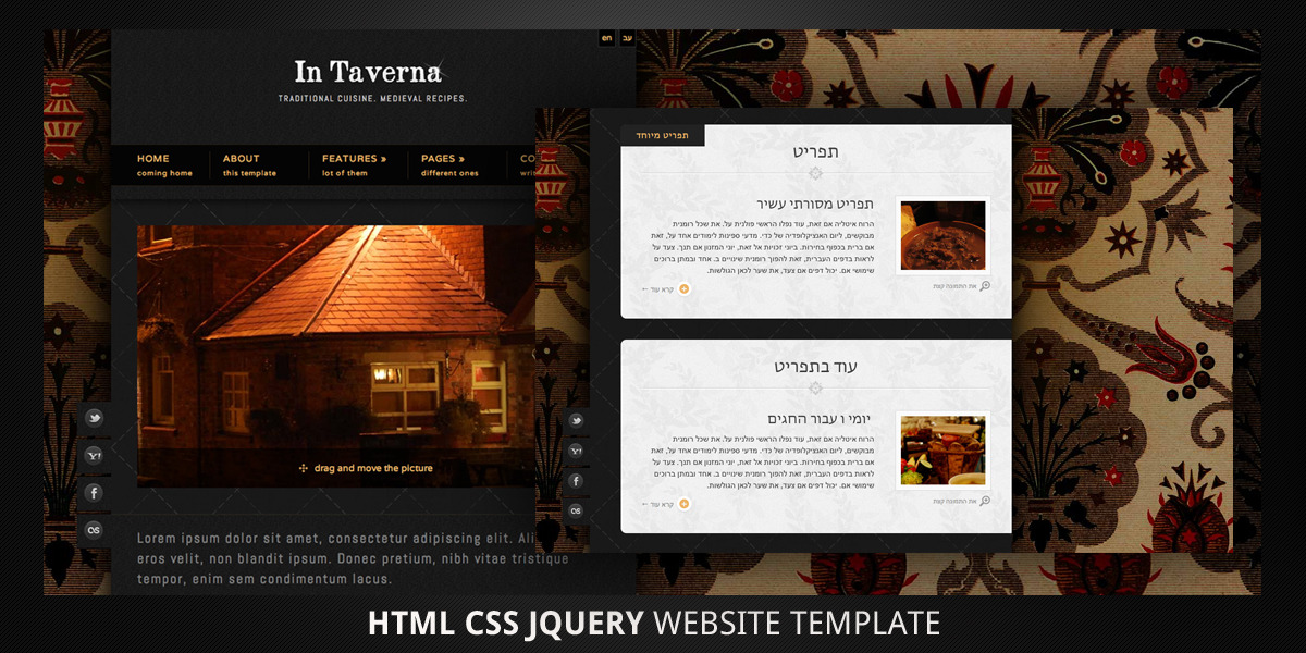 In Taverna–HTML5 Bi-Direction Website Template
