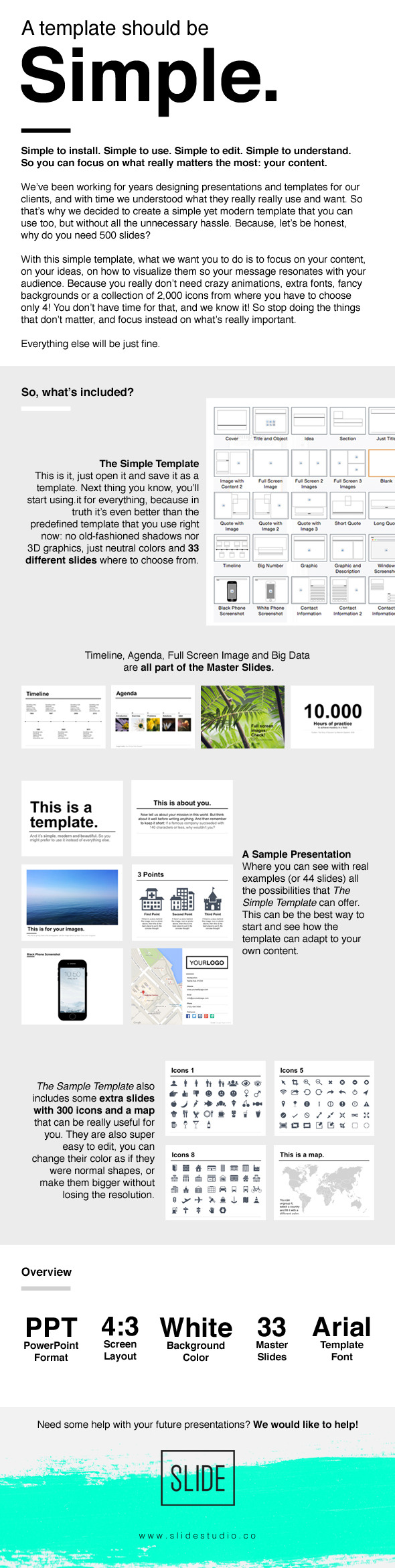 The Simple Template (PowerPoint Templates)