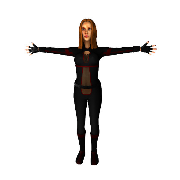 3DOcean Black Widow inspired char lowpoly 12245381