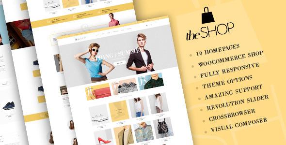 Download theShop - Retina Responsive WordPress Shop Theme nulled download